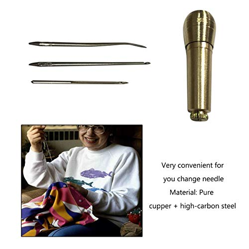 1set Leather Tent Canvas Sewing Awl Hand Stitcher Taper Leather Craft Needle Kit Tool for Sewing Tools