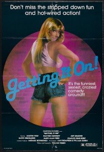 (GETTING IT ON - 27x41 Original Movie Poster One Sheet Folded 1981 )