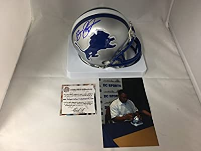 Barry Sanders Signed Autographed Detroit Lions Mini Helmet Schwartz Sports COA & Hologram
