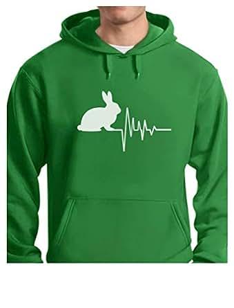 Tstars - Gift for Bunny/Rabbit Lovers for Easter Hoodie Small Green