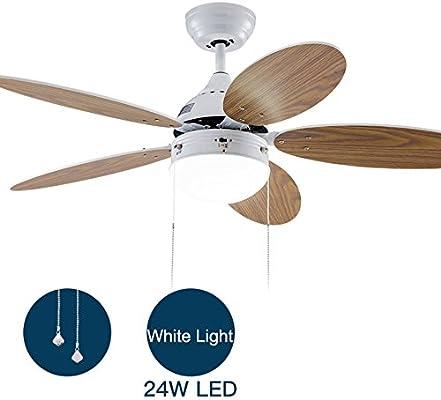 Simple Moderno Ventilador de techo Con Luz led bowl,5 palas Bajo perfil Ventilador eléctrico Para Dormitorio Restaurante sala de niños Brisa de verano Montaje empotrado Interiores Lámpara-E: Amazon.es: Iluminación