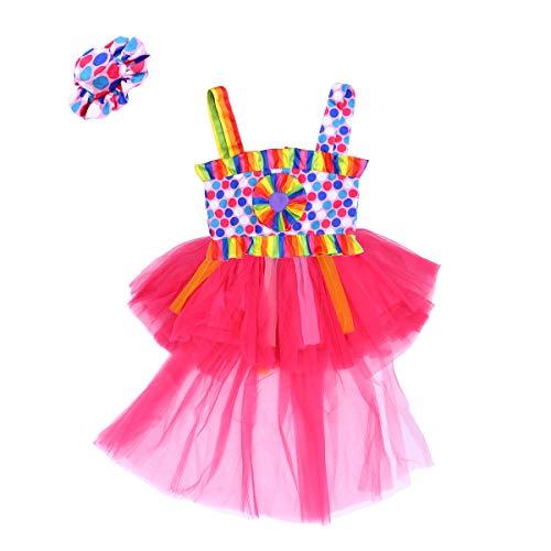 BESTOYARD Halloween Carnival Clown Costume Masquerade Girls Clown Outfit Suit (XXL) -