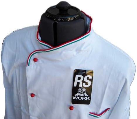 Giacca Casacca Cuoco Chef Modello Italia in Cotone Taglie Miste per ristorazione