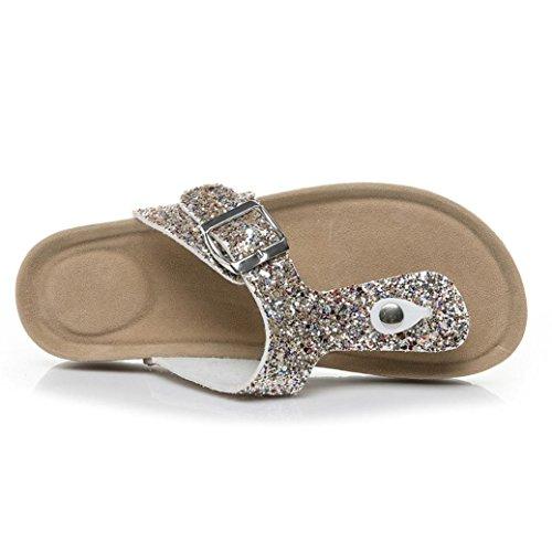 amp;H Gold Böhmen Sommer Wedges Sandalen Sandalen Mode Schuhe Weave S Frauen Heel NEEDRA Middle dqwdOa