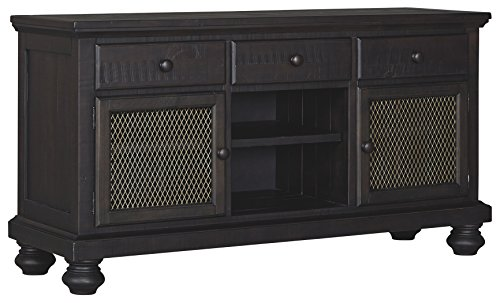 Ashley Furniture Signature Design – Sharlowe Dining Room Hutch – Charcoal