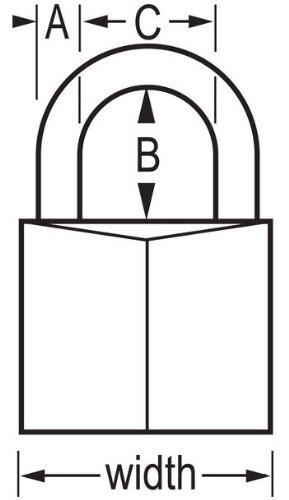 Master Lock 140D 9/16'' Brass Padlock