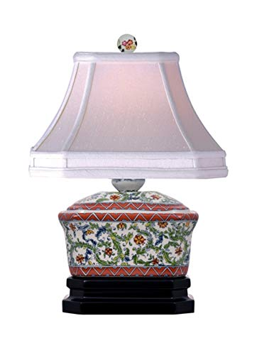 - Floral Vine Porcelain Chinese Candy Box Table Lamp 15