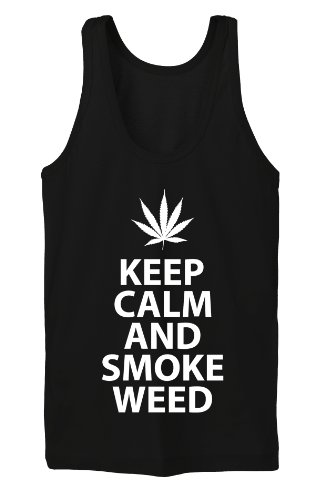 Keep Calm and Smoke Weed Tanktop Girls Noir