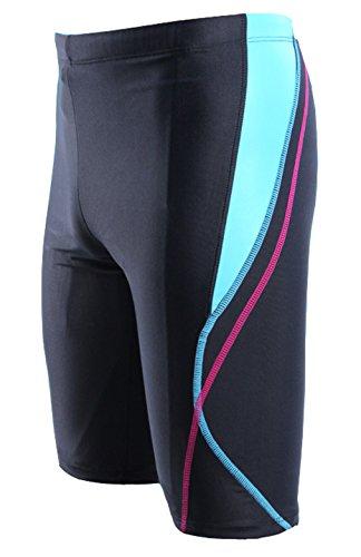 Wishwhat Men's Square Leg Swimsuit Water Shorts Half Pants (XL, Rose)