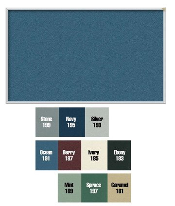 Ghent 12UV44-199 Unframed Vinyl Tackboard - Stone by Ghent