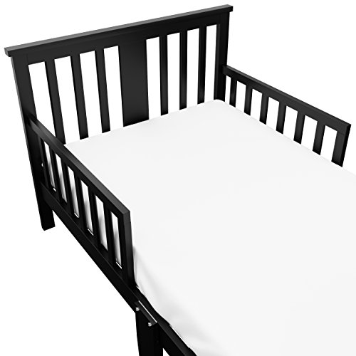 Storkcraft Mission Ridge Toddler Bed Black, Fits Standard-Size Toddler Mattress (Not Included), Guardrail on Both Sides, Meets or Exceeds All Federal Safety Standards, Pine & Composite Construction by Stork Craft (Image #3)