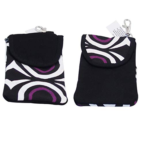 (Matching Pair of Pick-A-Pocket Purses - For Phone, Cigarettes, Money, Make-Up - Black with)