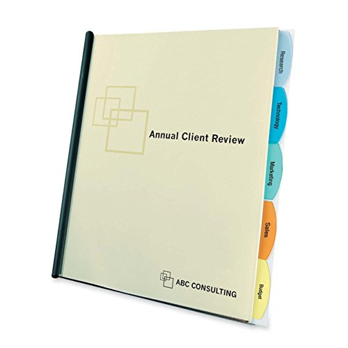 amazon com wilson jones report cover view tabs 5 tabs punchless