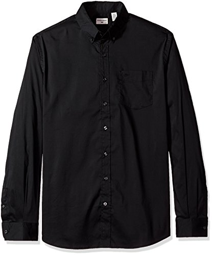Dockers Men's Big and Tall Comfort Stretch Soft No Wrinkle Button Front Shirt, black, 3X-Large Big