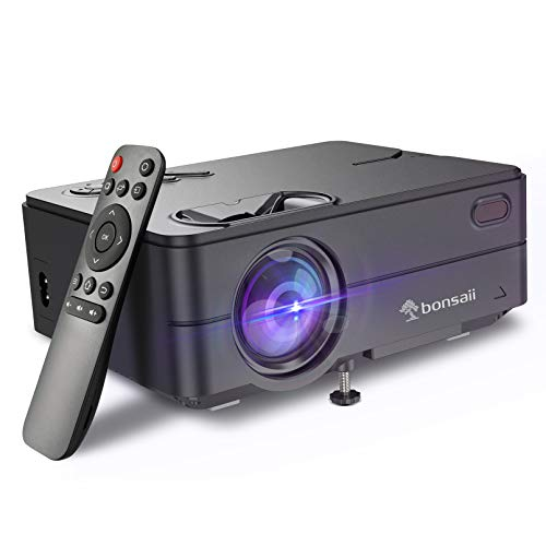 Mini Video Projector, Portable Outdoor Movie Projector 1080P Supported, 4500 Lux LED Phone Projector for Home Theater…