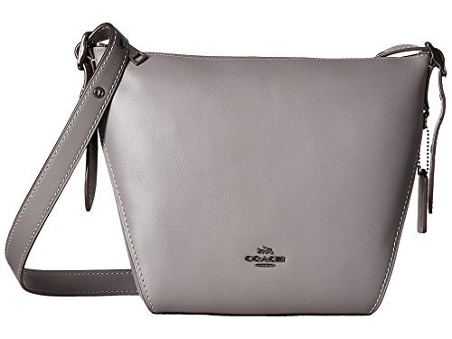 (COACH Women's Small Dufflette in Natural Calf Leather Dk/Heather Grey One Size)