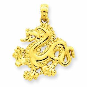 Petits Merveilles D'amour - 14 ct 585/1000 Dragon Or Pendentif
