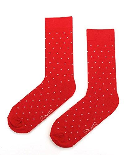 Dress-up Business De La Mode Hommes Chaussettes De Mariage Rouge