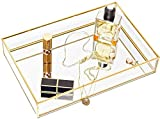 CHICHIC Gold Mirror Tray Jewelry Organizer Vanity