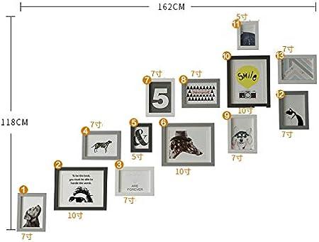 HY&PPJQ Escaleras Pared Foto, Pared de Marco de Foto Pared Combinación Creativa Lumbrera Pasillo Fondo Decoración de la Pared Portaretrato de Pared-B: Amazon.es: Hogar