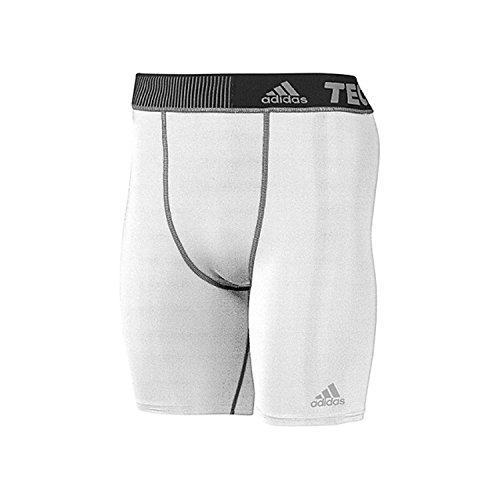 adidas Performance Men's Techfit Base 7-Inch Short Tights, Medium, White/White ()