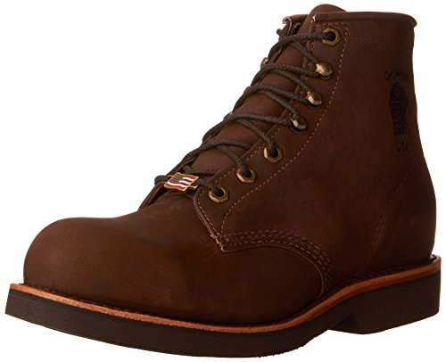 Chippewa Mens 6 Steel Toe Eh 20066 Stivaletto Stringato Cioccolato
