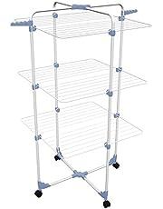 Gimi Modular 3 golvtorkare i stål – blå/vit, 30 m torklängd