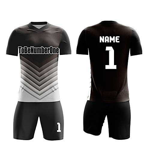 Quick Dry Breathable Soccer unifroms Custom Jerseys Goalkeeper Print Name,Number (3XL, White)