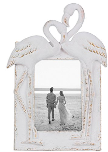 Youngs Resin Flamingo 4 x 6 inches Photo Frame Home Decor by Young's