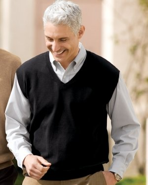 Amazon.com: Big Mens Signature Fine-Gauge V-Neck Sweater Vest by ...
