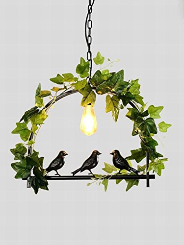 DEN Cafe green plant personality decorative grass ball chandelier,A,One size by DEN