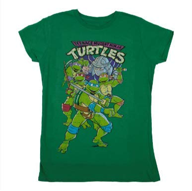 TMNT Classic Team Logo Girls T-Shirt Green ()