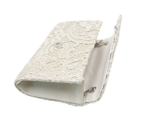 Shoulder Prom Women Bridal Hossty Evening Chain Wedding Clutch Party Lace Satin for Bag Apricot Handbag qHxZndwOx0