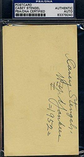 CASEY STENGEL SIGNED PSA/DNA 1952 GPC POSTCARD CERTED AUTOGRAPH