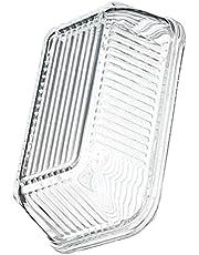Tomaibaby Glasssmör Dish Glasssmör Keeper Rensa Smörrätt Med Lodsmör Förvaringsbehållare Köksförvaring ( Transparent )
