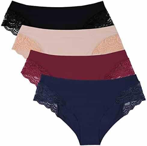 675c0cee8561 Anwell Womens Bikini Panites Low Rise Underwear Bikini Panties 4 Pack