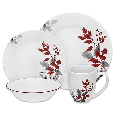 Boutique Kyoto Leaves Dinnerware Collection Set of 16