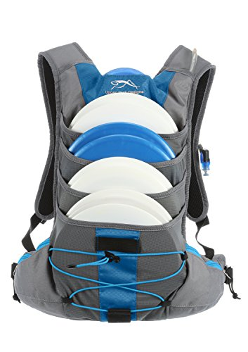 Upper Park Designs Disc Golf Bag Focus V5 Extra Light Disc Golf Backpack (Mykonos Blue / Hawaiian - Mini Stash Disc