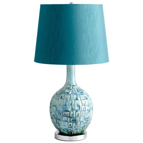 Aqua lamp shades amazon jordan coastal beach aqua turquoise blue modern table lamp aloadofball Choice Image