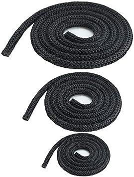 Junta para horno, estufa, junta redonda, cordón resistente al calor, puerta 6,8,10,12,14,16,18,20 mm, antracita/gris, 1 – 100 m