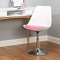 Hartleys Black /& Grey Modern Swivel Desk Office//Dining Chair Chrome Static Base
