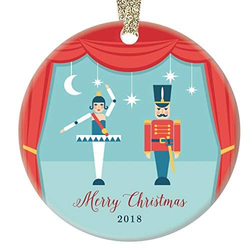 Nutcracker Merry Christmas Ornament 2018 Sugarplum Fairy Ballet Dancers Ceramic Present for Child's Ballerina Dance Recital Daughter Grandchild 3