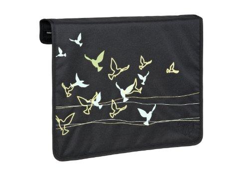 Rabat Bloom Petróleo para bolso cambiador Casual Messenger triangle black bandada de pájaros, negro
