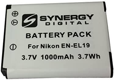 SDENEL19 Battery Nikon Coolpix S32 Digital Camera Accessory Kit includes ZE-FS10-OR Underwater Accessories SDM-1541 Charger