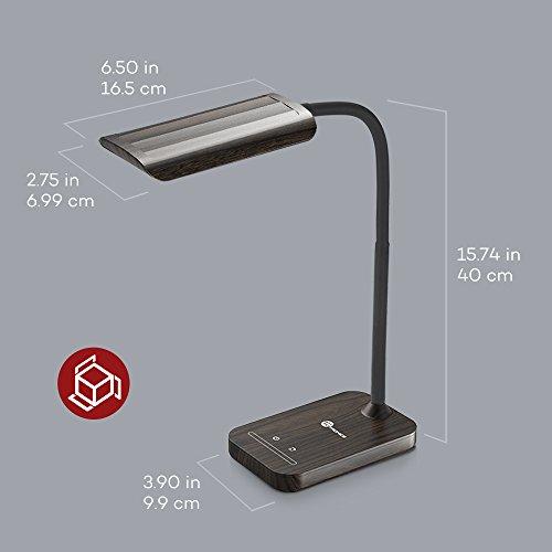 TaoTronics Desk Lamp, LED Table Light with 5 Lighting Modes & 7 Brightness Levels (Eye Caring, Flexible Gooseneck, Touch Controls, Memory Function) Wood Grain Design by TaoTronics (Image #5)