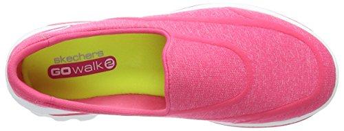 Skechers Gowalk 2 Supersock, Baskets Mode Femme Rose (Pink)