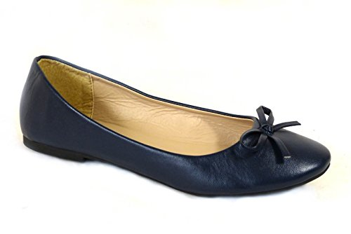 SKOS , Damen Mokassins Navy (001)