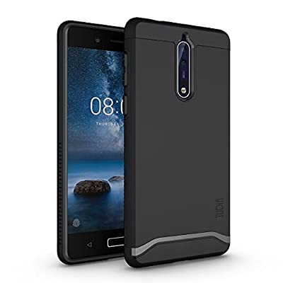 TUDIA Nokia 8 Case, Slim-Fit HEAVY DUTY [MERGE] EXTREME Protection / Rugged but Slim Dual Layer Case for Nokia 8 from TUDIA