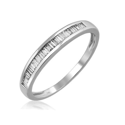 IGI Certified 14K White Gold Baguette Diamond Channel Set Wedding Ring Band (1/4 carat) (Ring Baguette)