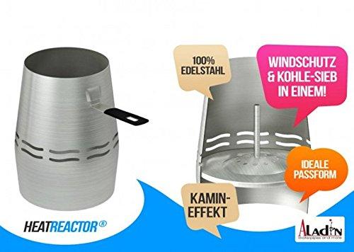 Aladin HeatReactor + ReactorBowl - Das perfekte Kaminkopf-Set für Shisha, Wasserpfeife
